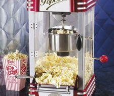 Retro Hot-Oil Popcorn Maker de lujo