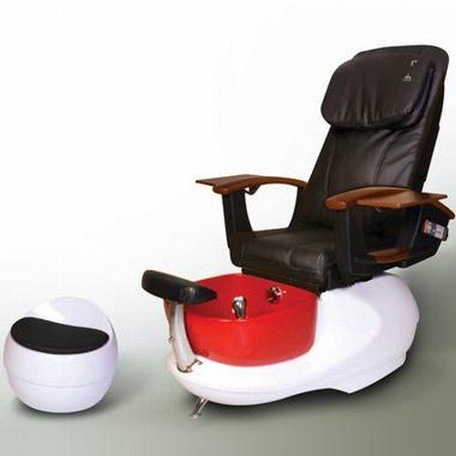 Red pedicure spa chair una silla de lujo for Sillas para pedicure