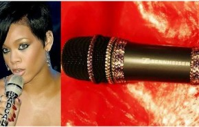 micrófono con diamantes de lujo