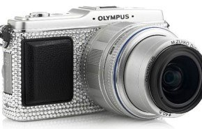 Camara de fotos con diamantes