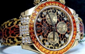 Rolex con diamantes y animal print