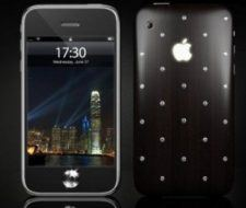 iPhone de lujo con diamantes