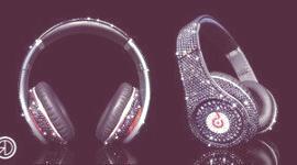 Auriculares de diamantes
