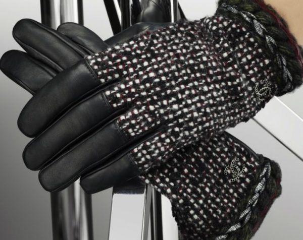 Guantes de tweed de Chanel