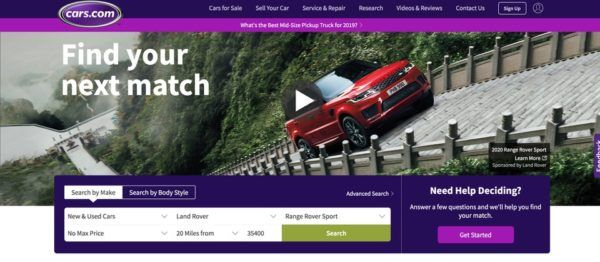 Página de Cars.com